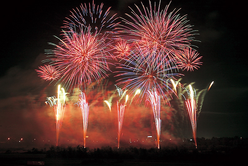 Kachimai Fire works